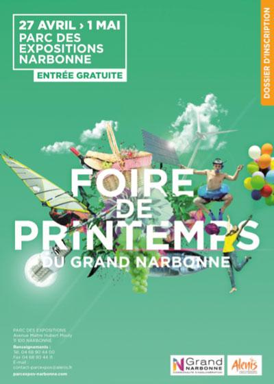 FOIRE DE PRINTEMPS NARBONNE <br> Du 27 Avril au 01 Mai 2018